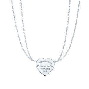 Tiffany Co Jewelry Return To Tiffany Double Chain Heart Necklace Poshmark